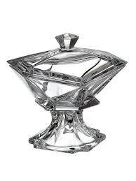 <b>Конфетница</b> с крышкой <b>Crystalite Bohemia</b> Origami 23 см ...