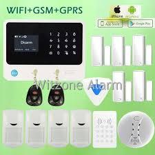 <b>Original G90B WIFI GSM</b> intruder alarm system,touch keypad IOS ...
