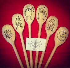 kitchen gifts geeks adventure time wooden spoons  x adventure time wooden spoons