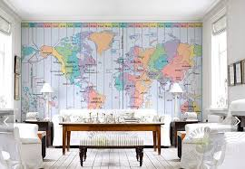 zones bedroom wallpaper: aliexpresscom buy custom photo wallpaperworld time zone map d wallpaper for living room bedroom tv hanging ceiling background wall pvc wallpaper from
