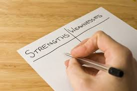 list of strengths and weaknesses