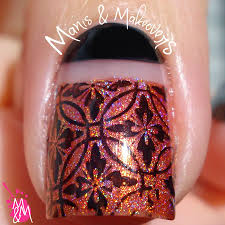 manis makeovers half moon negative space stamping holo mani i think the interview went well and the interviewer actually asked me to explain my manicure it was a fun interview