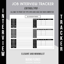job interview tracker job interview log editable 🔎zoom