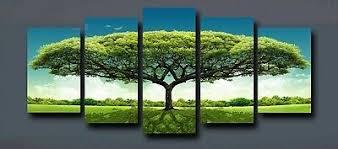 Modern <b>Large HD</b> Umbrella Tree 5pcs Wall Art <b>Print</b> on Canvas ...