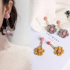 2019 <b>Ms</b> Simple Sweet <b>Temperament</b> Ear Ornaments Stud <b>Female</b> ...