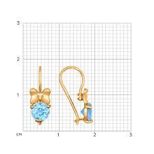 <b>Золотые</b> серёжки с топазами <b>SOKOLOV</b> – купить в официальном ...