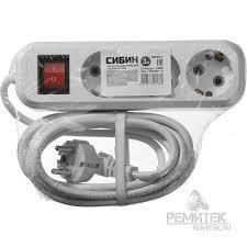 <b>Удлинитель</b> электрический, ПВС сечение 0,75кв мм, <b>3</b> гнезда ...