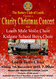 charity christmas concert the rotary club of louth louthmvc co uk posted in news