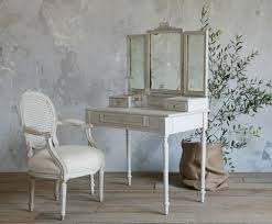 old style dresser table made of wood in white finish having three f fold mirror and home bed desk dresser combo home