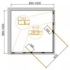 Купить <b>Душевой уголок</b> Cezares Variante <b>100х90</b> (VARIANTE-A ...