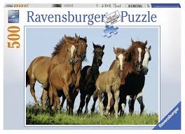 <b>Пазл Ravensburger</b> Табун <b>лошадей</b> (14717), 500 дет. — купить по ...