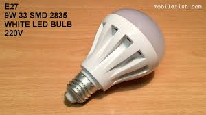 E27 9W 33 <b>SMD 2835</b> white <b>led</b> bulb <b>220V</b> from Banggood.com ...