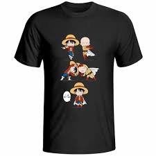 Monkey D Luffy Loves Saitama <b>T</b> Shirt Anime <b>One</b> Piece Crossover ...