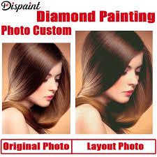 <b>Dispaint</b> Photo Custom <b>Diamond Painting</b> Cross Stitch <b>Full</b> Square ...