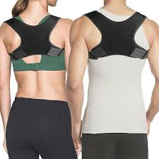 Posture Corrector <b>Adjustable Upper Back Shoulder</b> Belt Support ...