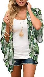 MayBuy <b>Women's</b> Flowy <b>Summer Chiffon</b> Kimono Cardigans Tops ...