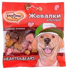 "<b>Мнямс лакомство для собак</b> ""Жевалки HEARTS&BEARS"" с ..."