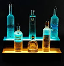 2 tier led liquor display be the raging bartender at your own party led best mood lighting