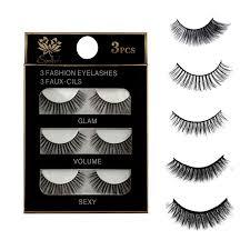 Sale <b>3 Pairs Natural</b> False Eyelashes Beauty Make up Thick Cross ...