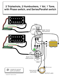 seymour duncan wiring diagram triple shots humbuckers  the world s largest selection of guitar wiring diagrams humbucker strat tele bass and more
