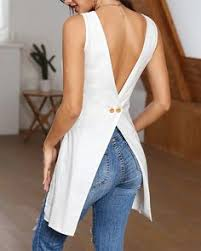 Details about Womens Backless <b>Sleeveless</b> Irregular Ladies Casual ...
