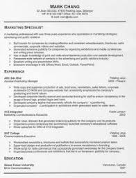 resume resignation cover letter samples  wareout comresume examples  free resume writer template experience marketing specialist professional integrated communication executive public company