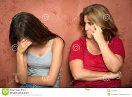 Image result for mother with sad teenager