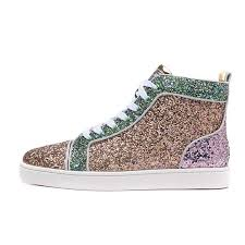 Red Bottom Men <b>Sneakers</b> Luxury <b>Glitter</b> Leather Shoes Mens ...