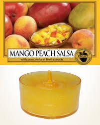 Yankee Candle Mango <b>Peach</b> Salsa Tealight Candle sample <b>1 pcs</b> ...