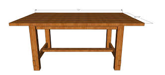 Free Dining Room Table Plans Kitchen Table Plans Free Kitchen