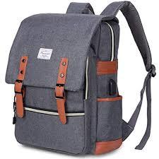 vintage men women backpack waterproof nylon students school backpacks large capacity travel rucksack unisex drawstring knapsack