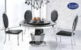 dining table chrome carrara marble