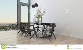 dining room table chairs modern modern table and chairs in sparse dining room