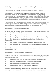 relevant essay topics calamatilde131acirccopyo remembrance day essay ideas to make it effective and