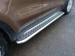 <b>Боковые подножки пороги с</b> площадкой 60 3 мм для KIA Sportage ...