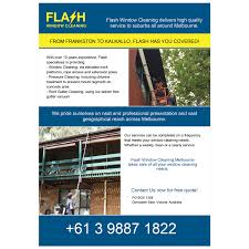 modern professional signage design for flash window cleaning by signage design by artlu for window cleaning flyer targeting shopfronts and small commercial work design