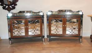 pair art deco mirrored chests sideboards servers art deco mirrored furniture