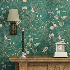Fruit Tree Wallpaper <b>American Country Pastoral</b> Birds And Flowers ...