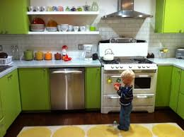 green kitchen cabinets home renovation