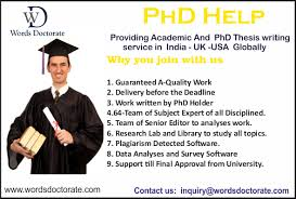 Thesis writing help in india