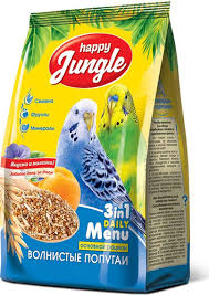 172 отзыва на Корм сухой <b>Happy Jungle для волнистых</b> попугаев ...