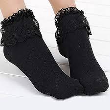Brussels08 Women Socks Lace Top Ruffle Frilly <b>Cotton Princess</b> ...