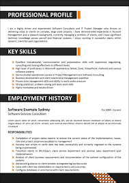 corporate resume template samples examples format corporate resume template