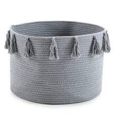 "18""<b>x12</b>"" Tassel Woven Basket <b>Large</b> Cotton Rope Storage Baskets ..."