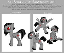 Character Creator Meme - MLP by merrypaws on DeviantArt via Relatably.com