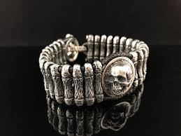 <b>Браслет серебрянный плетеный</b> «Скала 3/4» с черепом купить в ...