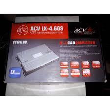 Отзывы о <b>Усилитель ACV LX - 4.60</b> S