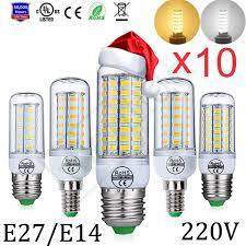 Menlida 10Pcs 220V E27/E14/B22/<b>GU10</b>/G9 <b>LED Lamp Bulb</b> 24/56 ...
