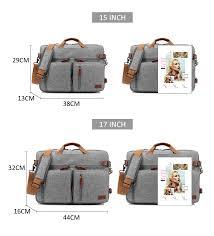 <b>17 Inch</b> Convertible Briefcase Men <b>Business</b> Handbag Messenger ...
