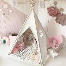 Kids Teepee Tent with Padded Mat & Light String& ... - Amazon.com
